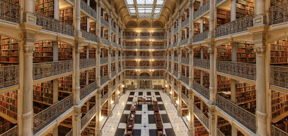 The George Peabody Library, Baltimore, Estados Unidos